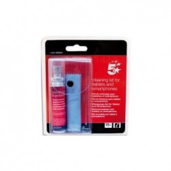 5 ETOILES Kit de nettoyage pour tablettes et smartphone : spray portecteur 25ml+1 lingette microfibres