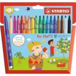 STABILO Etui pack carton de 18 Feutres Trio Frutti parfumés Pte Moyenne assorties