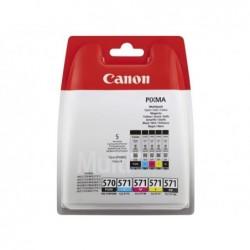 CANON Pack 5 Cartouches Jet d'encre Originale 1x PGI-570PGBK + 4x CLI-571