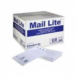 MAIL LITE Pack 100 Pochettes matelassées Bulles d'air 150x210 mm C Blanc