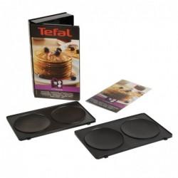 TEFAL Coffret Snack Collection Lot 2 plaques pancake + 1 livre de recettes