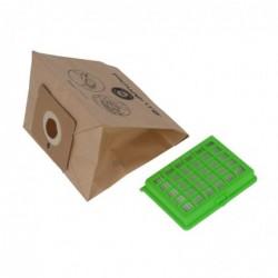 ROWENTA Pochette 6 sacs papier + 1 filtre (H)EPA Compactéo