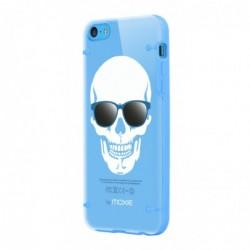 MOXIE Coque Plexi SkullGlass Bleue pour iPhone 5C