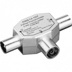 GOOBAY Adaptateur Coaxial Métal 2 x IEC Coax Mâle - Coax Femelle