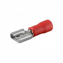 FIXPOINT Lot de 100 cosse de fiche plate Rouge 2,8mm