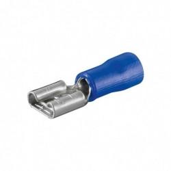 FIXPOINT Lot de 100 Cosses de fiche plate Bleu 4,8mm
