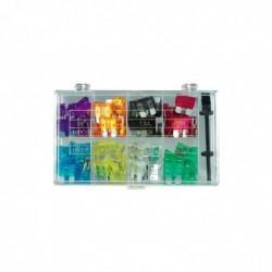 FIXPOINT Assortiment de 100 fusibles plats standard