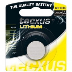 TECXUS Blister de 1 Pile bouton Lithium CR1616 3V 55mAh