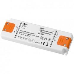 GOOBAY Transformateur LED 20 W 12 volts DC pour LED jusqu'à 20 watts de charge totale