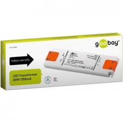 GOOBAY Transformateur LED Courant constant 350 mA / 20 W 350 mA CC pour LED jusqu'à 20 W