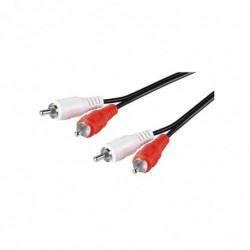 GOOBAY Câble audio stéréo 2 X RCA mâle/mâle 10m blindé