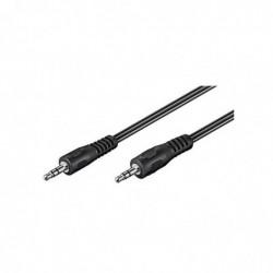 GOOBAY Câble Audio 3.5mm jack 3 pins Mâle / Mâle 5 m Noir