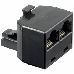 GOOBAY AdaptateurTéléphonique RJ45 Mâle (8P8C) vers 2 x RJ45 Femelle (8P8C) Noir