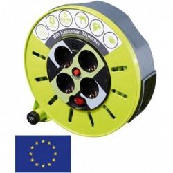 MASTERPLUG Rallonge Multiprise mobile PRO XT KASSETE S 8 m tambour Sécurisé x 4 Prises CEE