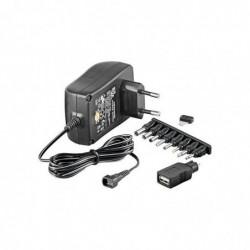 GOOBAY Alimentation universelle 3-12 V incl. Prise USB et 8 adaptateurs CC - max. 18,0 W et 1,5 A