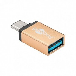 GOOBAY Adaptateur USB-C™ – USB 3.0 Type A Femelle Or