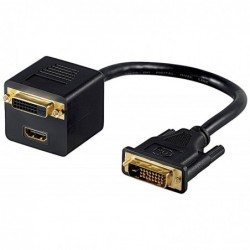 GOOBAY Adaptateur DVI Mâle  DVI + HDMI™ Femelle Noir