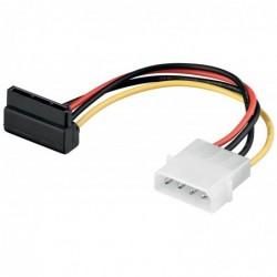 GOOBAY câble d'alimentation PC, 13c m - 4-pin 5.25 power plug vers 15-pin S-ATA 90°
