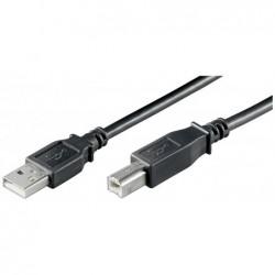 GOOBAY Câble USB 2.0 Hi-Speed Type USB-A - USB-B, 0,25 m, Noir