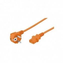 OOBAY Power cable 5 m, orange - Schuko (type F, CEE 7/7)  Device jack C13 (IEC connection) Power cable 5 m, orangebrSchuk...