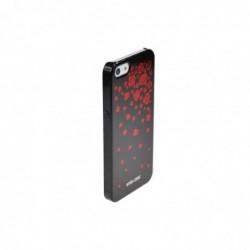 STAR-CASE Coque pour Apple IPhone 5 , 5S Bling Rose Noir