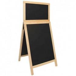 SECURIT Panneau trottoir DELUXE DUPLO avec tableau noir 55 x 120 cm