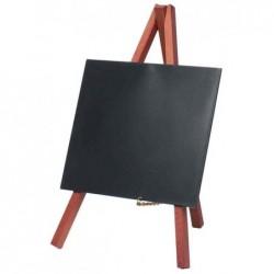 SECURIT Ardoise de table MINI avec trépied 15 x 26 cm Acajou
