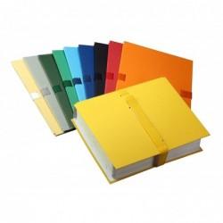 ELBA Pack de 10 Chemises à sangle extensibles 24 x 32 Fermeture Velcro Assortis