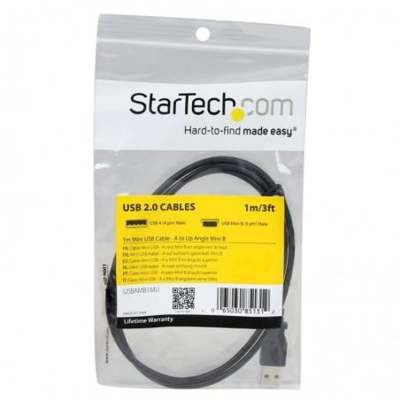 STARTECH.COM Câble Mini USB  A vers Mini B coudé 90° vers le haut 1 m