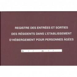 ELVE Registre des entrées / Sorties EHPAD 21 x29,7 cm horizontal 96p