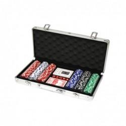 Jeu de poker à 300 jetons avec malette en alu (11,5 gr)