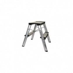 SAFETOOL Marchepied pliable en Aluminium 2 marches - Dim L19,3 x H43 x P34,5 cm