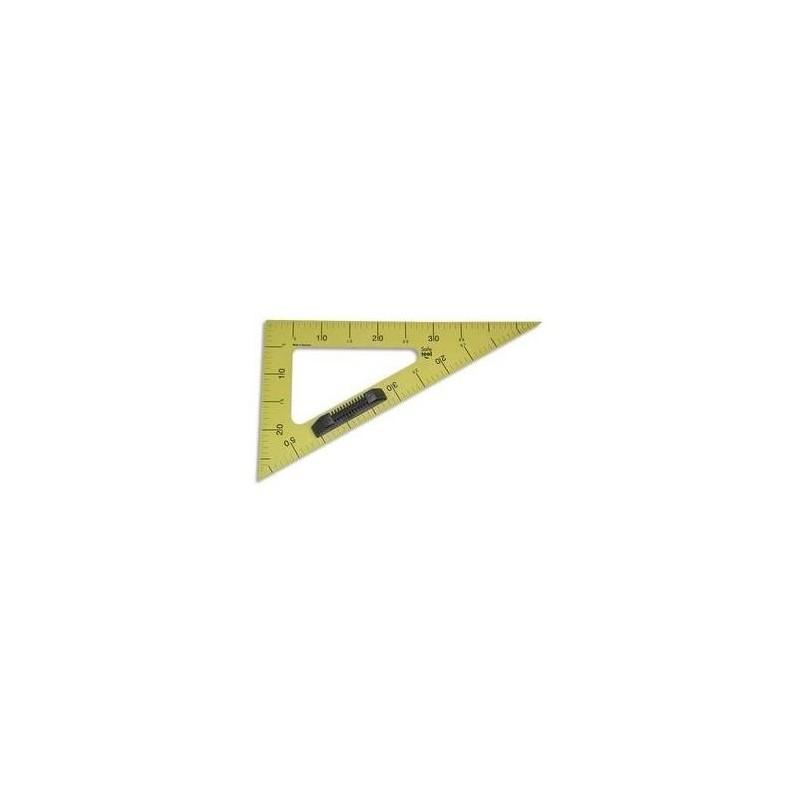 SAFETOOL Equerre 60° plastique incassable jaune 50cm poignée noire amovible pour tableau