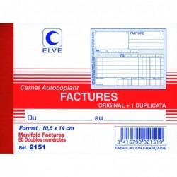 ELVE Manifold FACTURES 105 x 140 mm 50 Feuillets Dupli