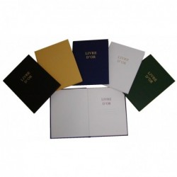 ELVE Livre d'Or Couverture rigide 220 x 170 mm 148 Pages Bleu
