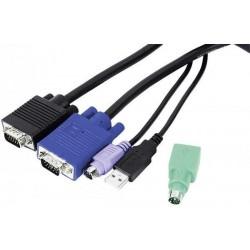 DEXLAN Cordon KVM combiné Type E3 Mixte USB+PS/2 3,00m