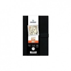 CANSON Art Book 180° Livre de Dessin 80 Feuilles 96 g 8,9 x 14 cm Noir
