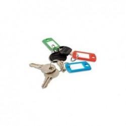 PAVO Boîte de 100 portes clés avec anneaux - Dimensions L x H x P cm coloris assortis