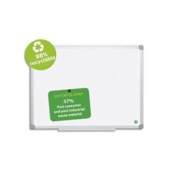 BI-SILQUE BISILQUE Tableau blanc émaillé recyclable cadre alu 60x90 cm