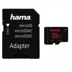 HAMA Carte microSDHC 16GB...