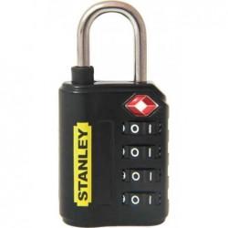 STANLEY Cadenas à combinaison 4 chiffres avec indicateur TSA 30 mm Noir