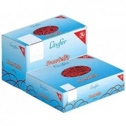 LÄUFER carton de 1000 g de bandes élastiques dans un carton 130 x 10 mm, rouge