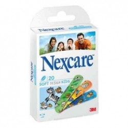 NEXCARE Boite de 20 Pansements Soft Design Kids 19 x 72mm