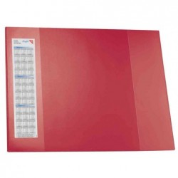 LÄUFER Sous-mains DURELLA D2, 520 x 650 mm, rouge 2 Poches latérales
