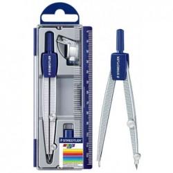 STAEDTLER Coffret Compas 550 60avec adaptateur Longueur 124,2 mm Diam Max 30 cm