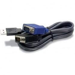 TRENDNET Jeu de Câble KVM USB/VGA 1,80m