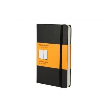 MOLESKINE Carnet de note couverture rigide 9x14cm 192 pages lignées. Coloris noir