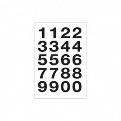 HERLITZ Etui de 40 Chiffres adhésifs 0-9 H 20 mm Film noir