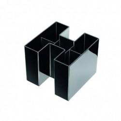 HAN multipot à crayons BRAVO, 5 compartiments, noir