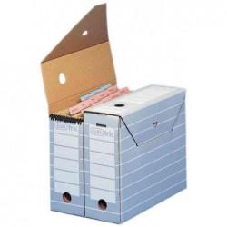 ELBA paquet de 10 boîte d'archivage tric, largeur 95 mm pour format A4 Gris
